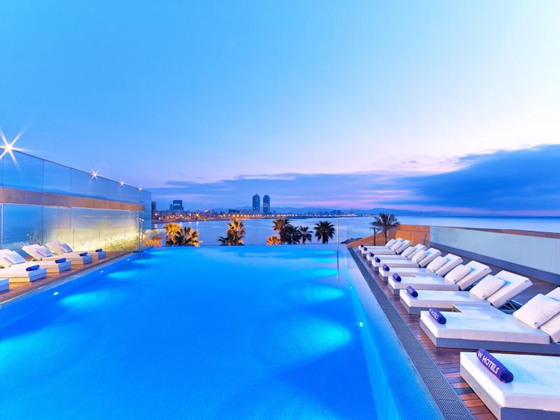 Watch the sun set over the Mediterranean from the W Hotel's rooftop infinity pool and terrace: W Hotel