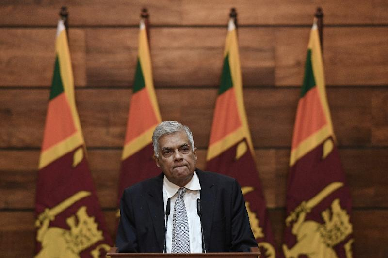 Warnings about a plan for suicide bombings on churches were not shared with Sri Lanka's PM Wickremsinghe (AFP Photo/Mohd RASFAN)