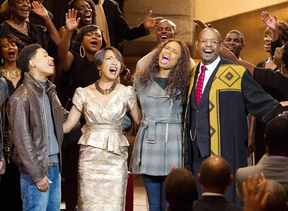 """<p><strong>Black Nativity</strong> follows Langston (Jacob Latimore), a Baltimore teen raised by his single mother (<a class=""""link rapid-noclick-resp"""" href=""""https://www.popsugar.com/Jennifer-Hudson"""" rel=""""nofollow noopener"""" target=""""_blank"""" data-ylk=""""slk:Jennifer Hudson"""">Jennifer Hudson</a>), who travels to New York City to spend the holiday with his estranged relatives, the Rev. Cornell Cobbs (<a class=""""link rapid-noclick-resp"""" href=""""https://www.popsugar.com/Forest-Whitaker"""" rel=""""nofollow noopener"""" target=""""_blank"""" data-ylk=""""slk:Forest Whitaker"""">Forest Whitaker</a>) and his wife, Aretha (Angela Bassett). But when Langston realizes how strict the Cobbs are, he sets out on a journey to return to his mother and finds the value of faith, healing, and family along the way.</p> <p><span>Watch <strong>Black Nativity</strong> on Amazon Prime Video</span>.</p>"""