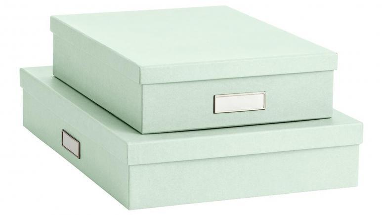 Mint Stockholm Office Storage Boxes