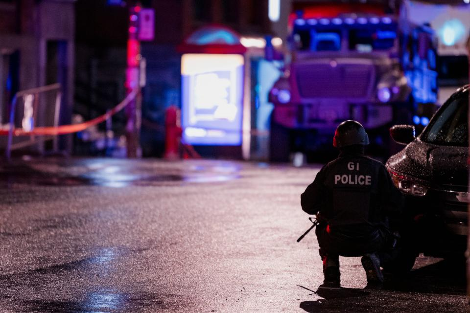 Police later said no threat had been found. Source: Getty