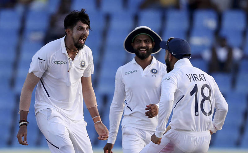 India speedster Ishant Sharma claimed his ninth five-wicket haul in Tests after registering figures of 5-42 on Day two of the first Test against West Indies in Antigua on Friday. AP