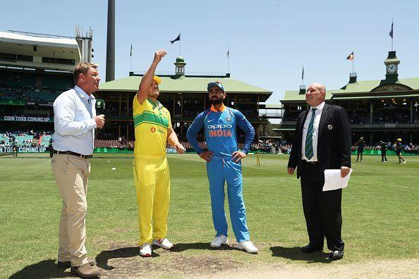 Australia won the toss and chose to bat in the First ODI against India at SCG