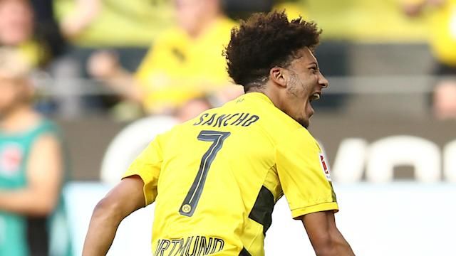 The 18-year-old needed just 13 minutes to open the scoring for his side in Saturday's crucial clash with Bayer Leverkusen