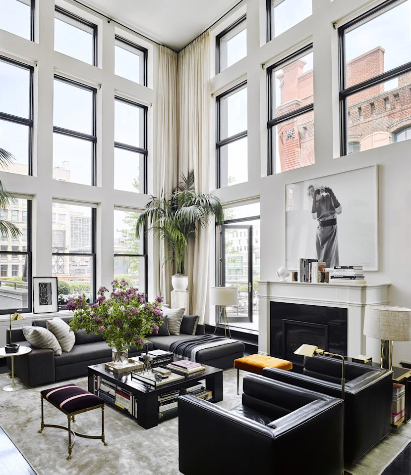 The prolific shoe designer opens the doors to the two-floor New York City apartment he shares with husband Dr. Jake Deutsch