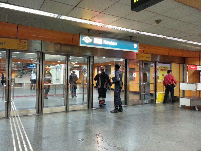 Newton MRT station still remained open.