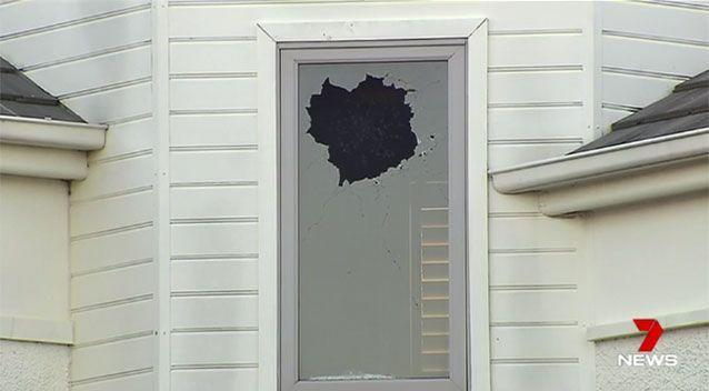Gunshots were fired at Mr Thornburgh's Port Melbourne home in 2016. Source: 7 News