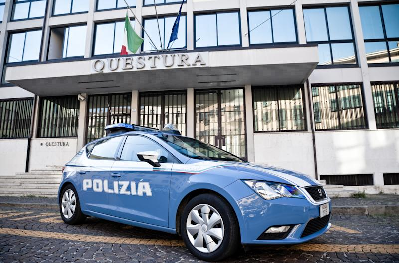 Padua, Italy - July, 22 - 2018 Police patrol car in Padua in front of the Police Headquarters.
