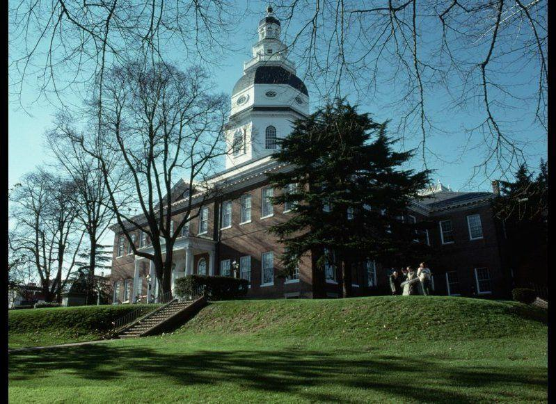<strong>MARYLAND STATE HOUSE</strong> Annapolis, Maryland <strong>Year Completed:</strong> 1797 <strong>Architectural Style: </strong>Georgian <strong>FYI:</strong> The Maryland State House has been holding government meetings for more than two centuries. The Continental Congress actually met in the building's Old Senate Chambers in 1783 and 1784. <strong>Visit:</strong> The capitol is open daily from 9 a.m. to 5 p.m. except for Christmas and New Year's Day. The Office of Interpretation will arrange specialized, curatorial tours of the building and its artwork.