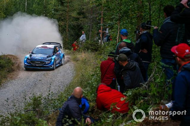 "Gus Greensmith, Elliot Edmondson, M-Sport Ford WRT Ford Fiesta WRC <span class=""copyright"">McKlein / LAT Images</span>"