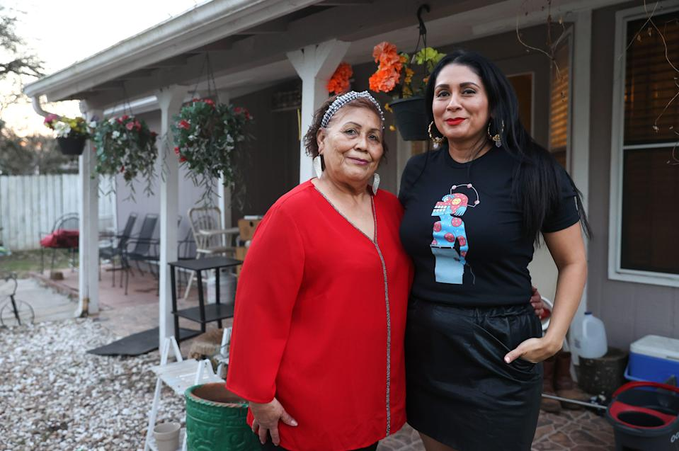 Enriqueta Maldonado and her daughter Monica fed over 75 people with hundreds of home cooked meals in a coordinated effort to help those most in need from the community as water and electric service went out in Austin due to winter storms. The pair is photographed at the family home in Dove Springs on Wednesday, Feb. 24, 2021.