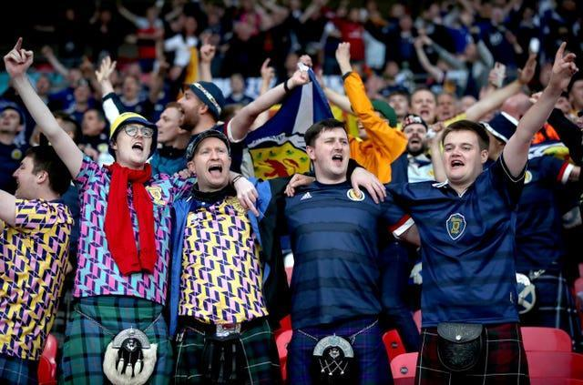 The Scots enjoyed their night at Wembley