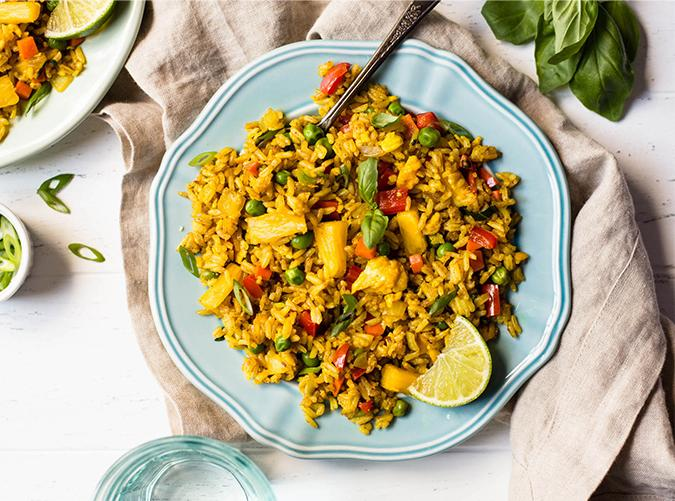 """<p>Ten times better when you make it yourself.</p> <p><a class=""""cta-button-link"""" href=""""http://healthynibblesandbits.com/pineapple-fried-rice/"""" target=""""_blank"""">Get the recipe</a></p>"""