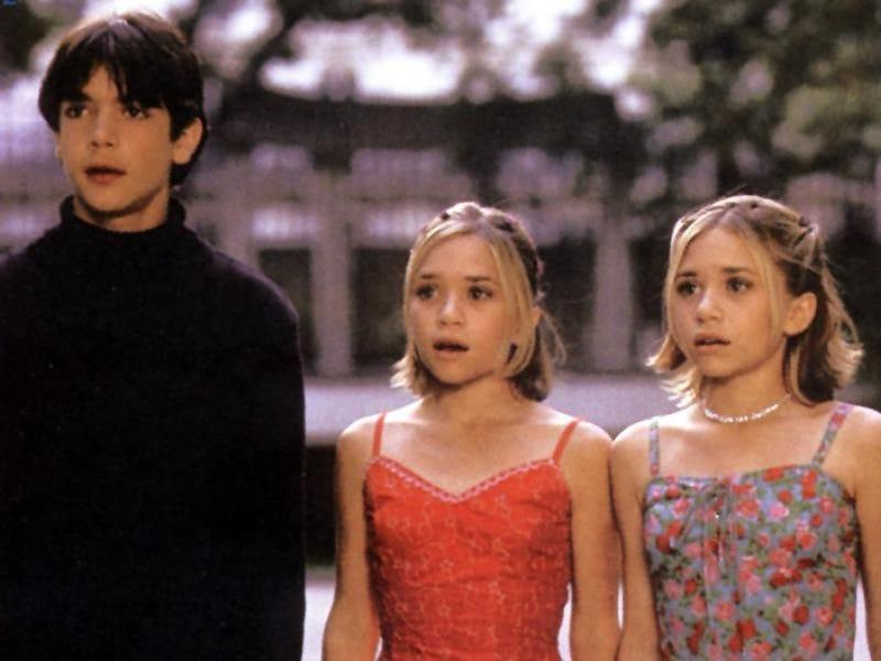 """Mary-Kate and Ashley Olsen in """"Passport to Paris"""" with costar"""