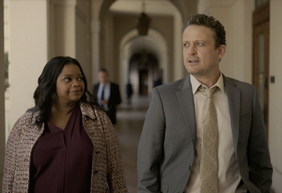 David Lyons and Octavia Spencer in Truth Be Told Season 2 on Apple TV+.