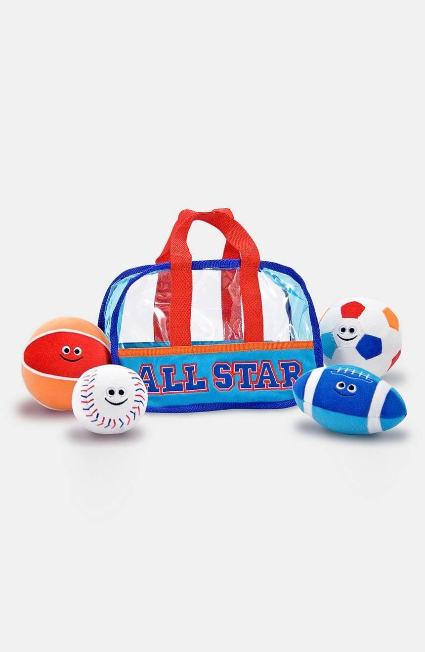 <p>This <span>Melissa &amp; Doug Fill &amp; Spill Sports Bag</span> ($23) includes soft balls that will be safe to play with.</p>