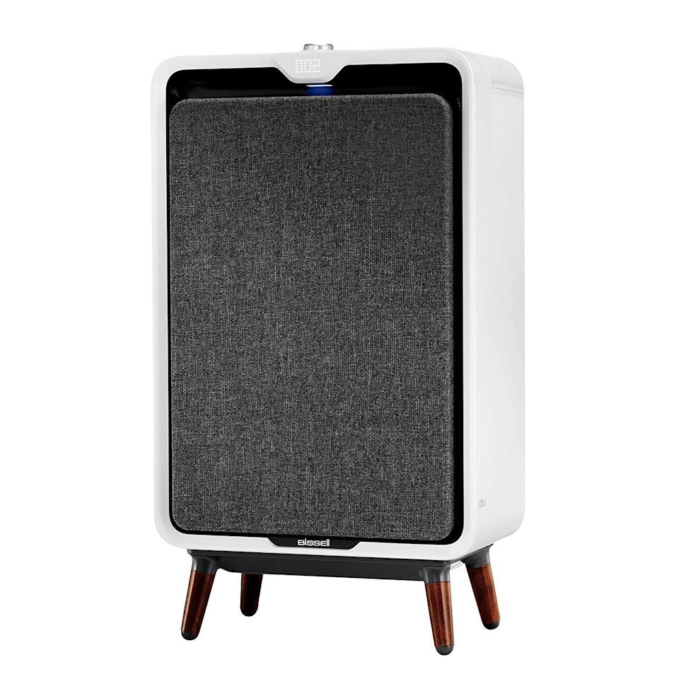 """<h3>Bissell air320 Smart Purifier</h3><br>This smart purifier comes equipped with a high-efficiency carbon filtration system that quietly cleans the air in larger rooms and spaces — plus, it has a retro could-be-a-speaker kind of vibe to it. <br><br><em>Shop </em><a href=""""https://amzn.to/37J9gCt"""" rel=""""nofollow noopener"""" target=""""_blank"""" data-ylk=""""slk:Bissell"""" class=""""link rapid-noclick-resp""""><em>Bissell</em></a><br><br><strong>Bissell</strong> air320 Smart Purifier, Large Room, $, available at <a href=""""https://amzn.to/2xGIJ9z"""" rel=""""nofollow noopener"""" target=""""_blank"""" data-ylk=""""slk:Amazon"""" class=""""link rapid-noclick-resp"""">Amazon</a>"""