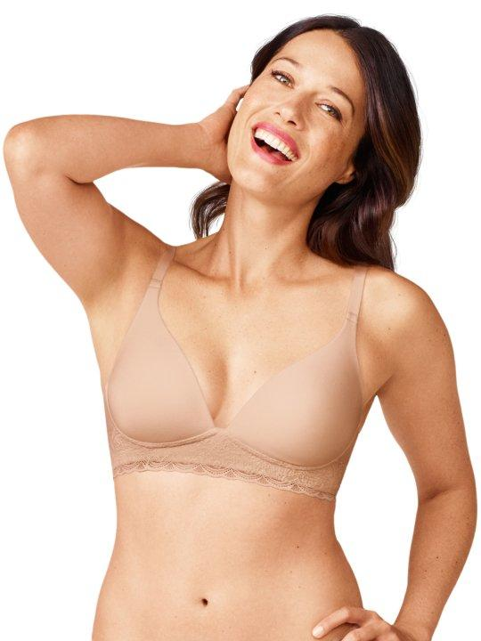 Warner's Cloud 9 Wire-Free w/ Lace Band bra