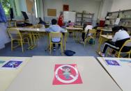 French children return to school in Nice