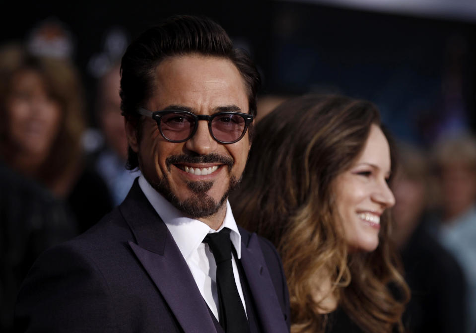 """arrives at the premiere of """"The Avengers"""" in Los Angeles, Wednesday, April 11, 2012.  """"The Avengers"""" will be released in theaters May 4, 2012. (AP Photo/Matt Sayles)"""
