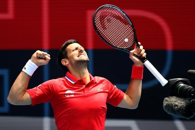 Novak Djokovic won his first match of the season at the ATP Cup