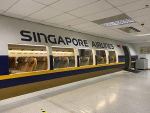 Mock up of the training facility. Photo: Singapore Airlines