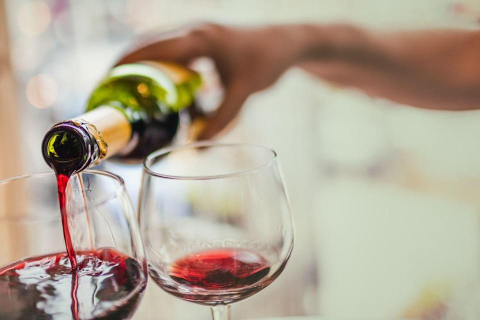 """<p>A glass of wine might <em>sound</em> nice after a long, stressful day at the office but substances such as alcohol can intensify stress and anxiety in the long run, says Issa. Plus, it's easy for <a href=""""https://www.prevention.com/health/mental-health/a20806555/alcoholism-women-rising/"""" rel=""""nofollow noopener"""" target=""""_blank"""" data-ylk=""""slk:alcohol to become an escape from stress"""" class=""""link rapid-noclick-resp"""">alcohol to become an escape from stress</a>.</p>"""
