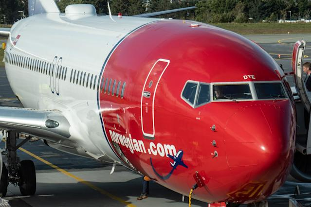 Norwegian Air laid off a 'significant' number of staff on Tuesday. (Nicolas Economou/NurPhoto via Getty Images)