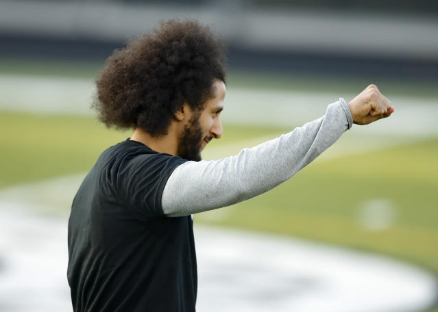 The Seahawks didn't attend Colin Kaepernick's workout on Saturday after a venue change. (AP Photo/Todd Kirkland)