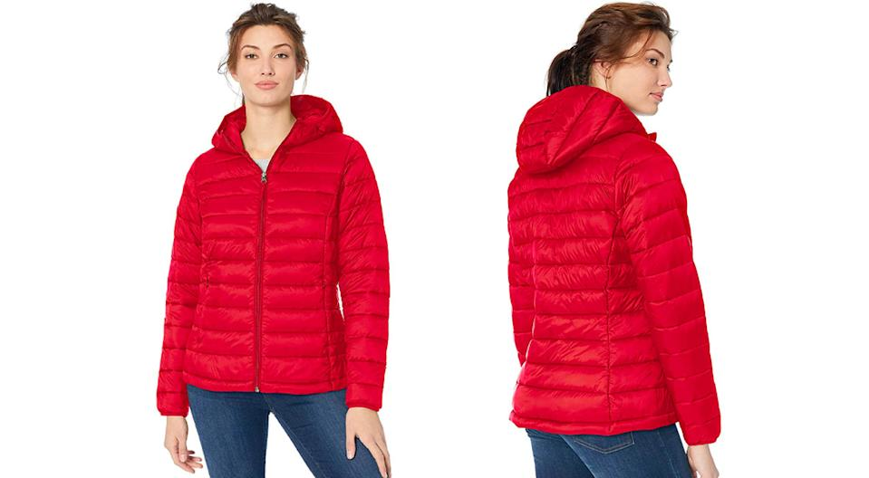 This Amazon Essentials jacket starts at $32 in red. (Photo: Amazon)