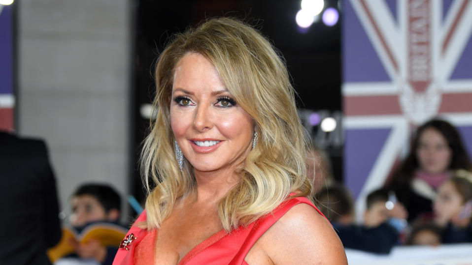 Carol Vorderman attends the Pride Of Britain Awards on October 28, 2019. (Photo by Karwai Tang/WireImage)