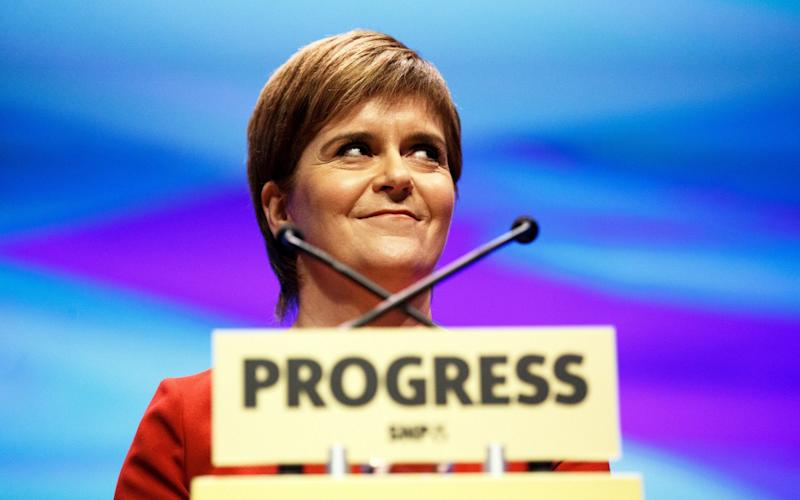 Nicola Sturgeon announced plans for a state-owned energy firm in her SNP conference speech - EPA