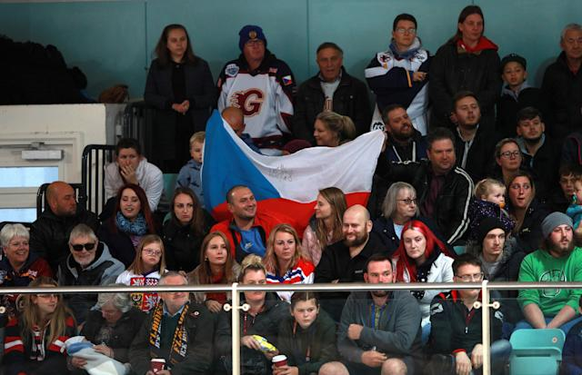 Czech Republic fans turned out to see the Premier League icon in action. (Photo by Ian Walton/PA Images via Getty Images)