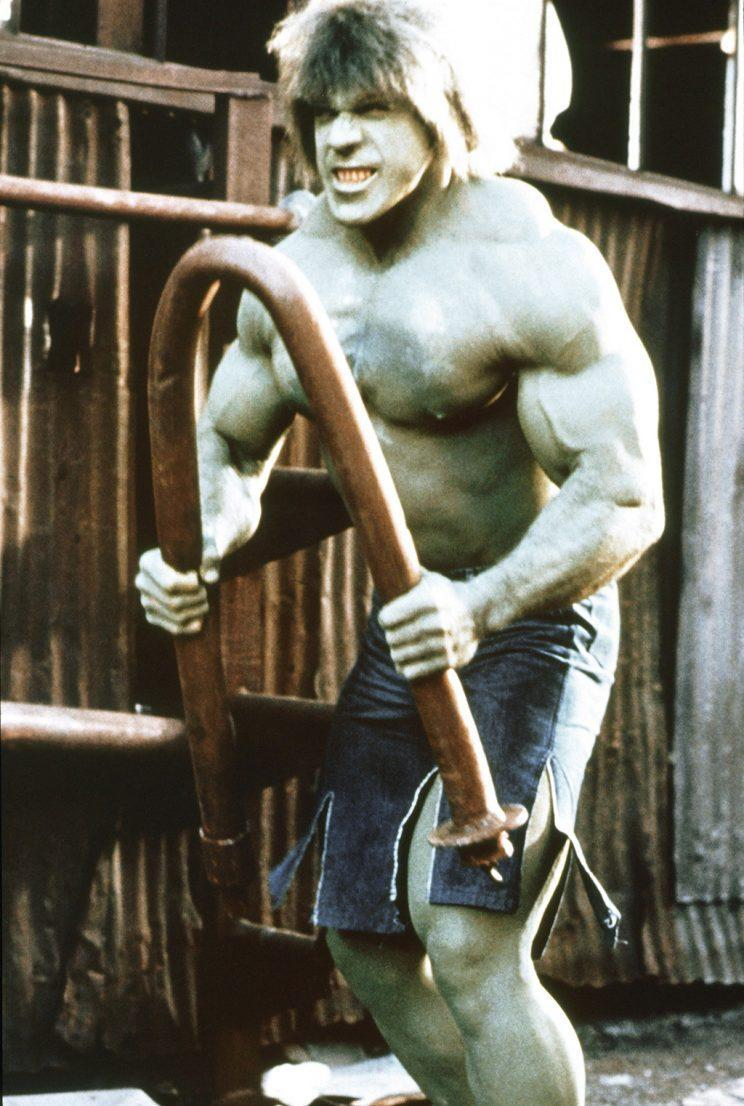 Lou Ferrigno in 'The Incredible Hulk' (Credit: Everett Collection)