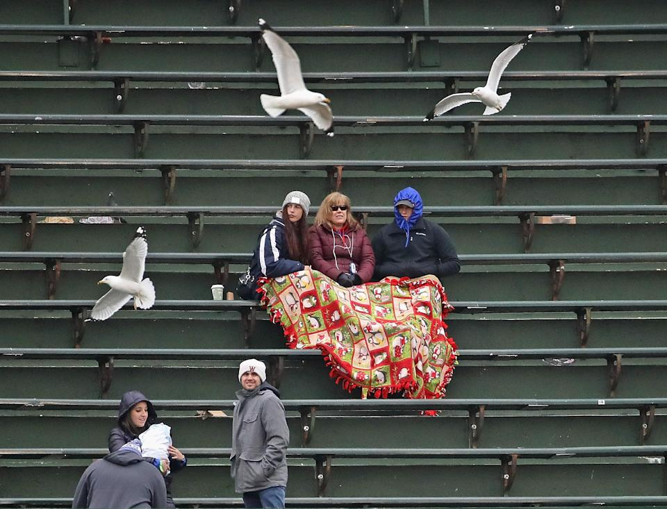 The average crowd of 27,532 over the 221 MLB games played this season is about 2,700 fans per game lower than last year's figure through the same point. (Getty Images)