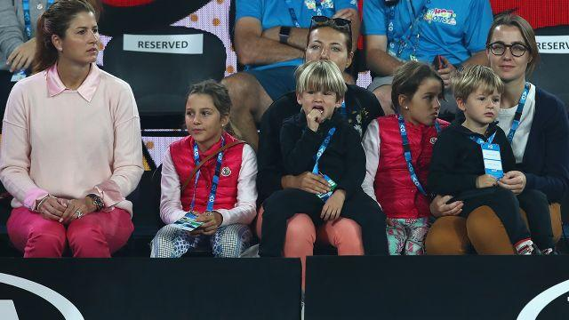 Mirka (left) with the four kids. Image: Getty