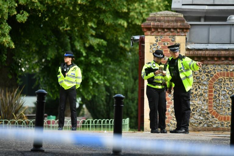 Counter terrorism police have taken over the investigation in to the stabbing in Reading, England (AFP Photo/Ben STANSALL)