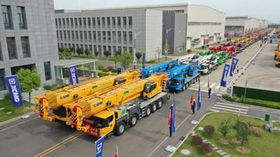XCMG Delivers Over 100 Units of Geographically Customized Cranes to International Customers. (PRNewsfoto/XCMG)