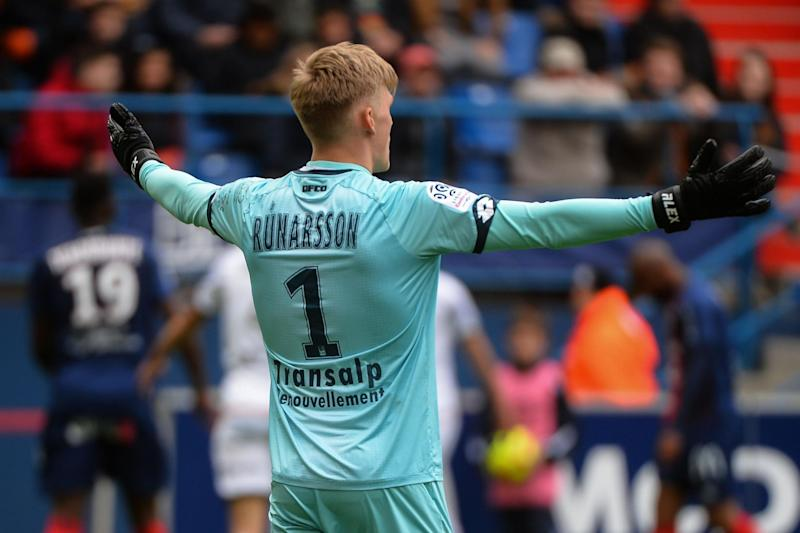 Runarsson comes in after Martinez's move to Aston Villa: AFP via Getty Images