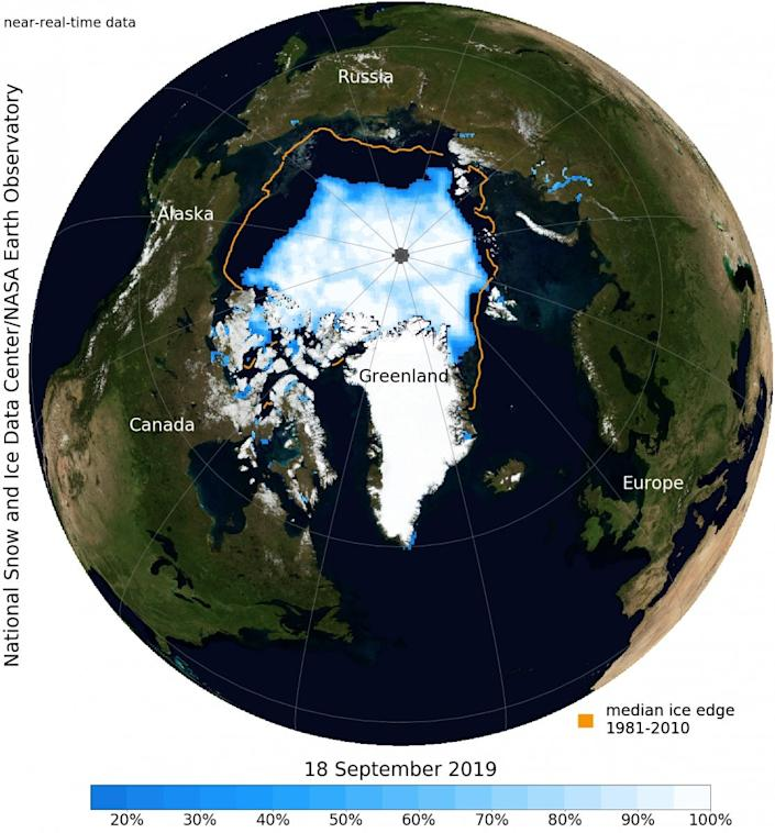 arctic sea ice september 2019