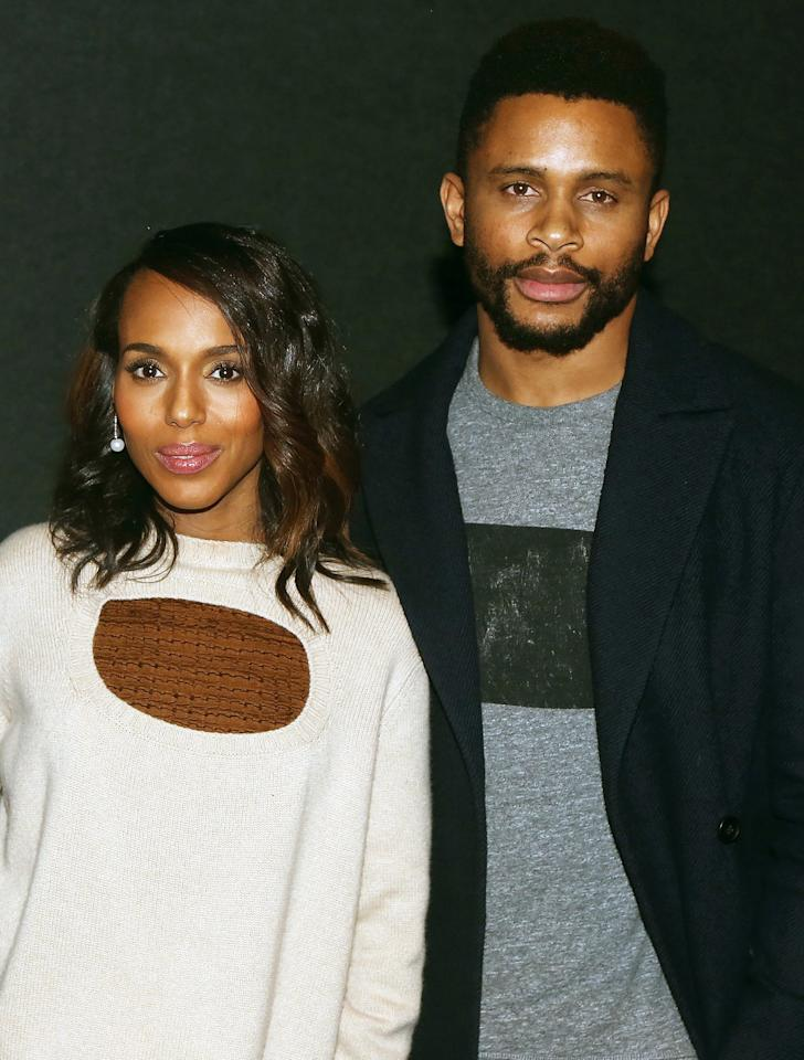 """Washington and former Oakland Raider, Asomugha, kept their relationship totally hidden until they married in 2013. They're <a href=""""https://people.com/parents/kerry-washington-corrects-craig-melvin-mother-of-three/"""">parents of three</a>: Isabelle Amarachi Asomugha was born in 2014, and Caleb Kelechi Asomugha was born in 2016. Asomugha also has a 13-year-old daughter from a previous marriage."""