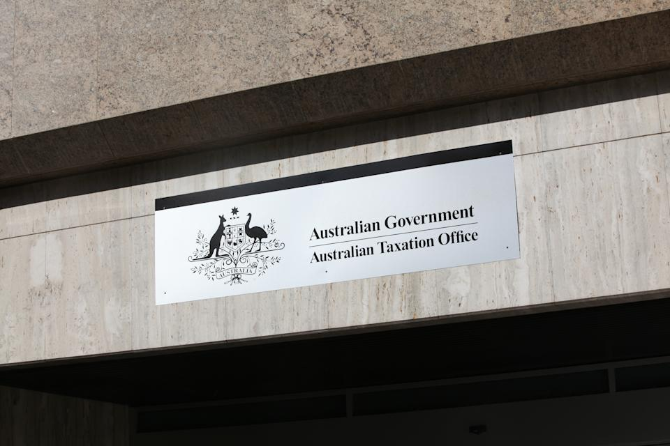 The Australian Government Taxation Office in Sydney on Monday. (AAP Image/April Fonti)
