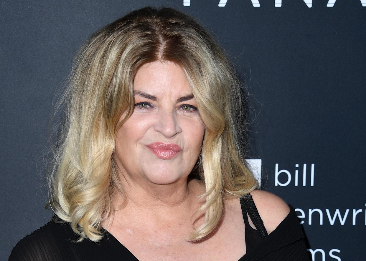 Kirstie Alley has taken issue with the gender-inclusive term 'chestfeeding'. (Getty Images)