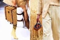 <p>If this past summer's Instagram feeds showed us anything, it's that berry picking and picnics are the new brunch. Fendi (<em>left</em>) and Jacquemus (<em>right</em>) took notice with straw and rattan bags that can help take your dining experience outdoors in the chicest way possible.</p>