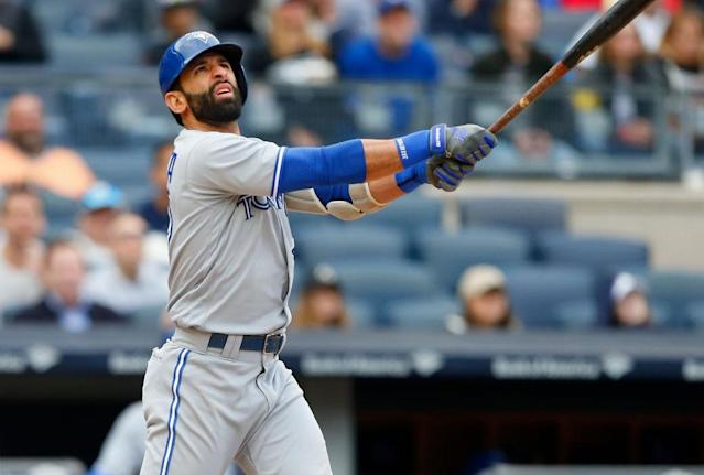 Jose Bautista is hoping to lace em up for one of the Toronto Blue Jays' divisional rivals. (Getty Images)