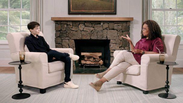 PHOTO: Elliott Page sits down for an interview with Oprah that will air on April 30, 2021. (Apple TV)