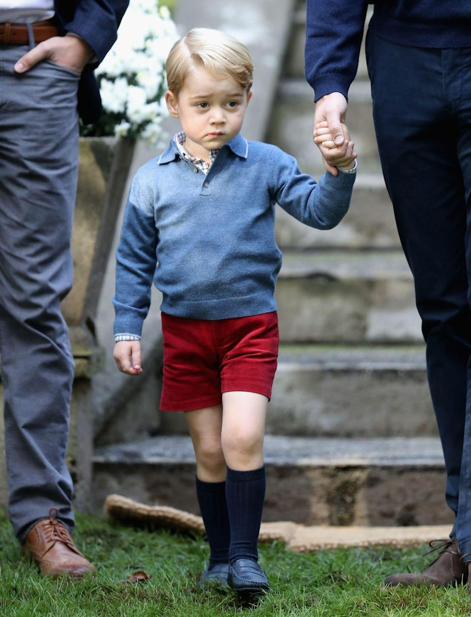Prince Louis Wore a Hand-Me-Down Outfit from Big Brother Prince George