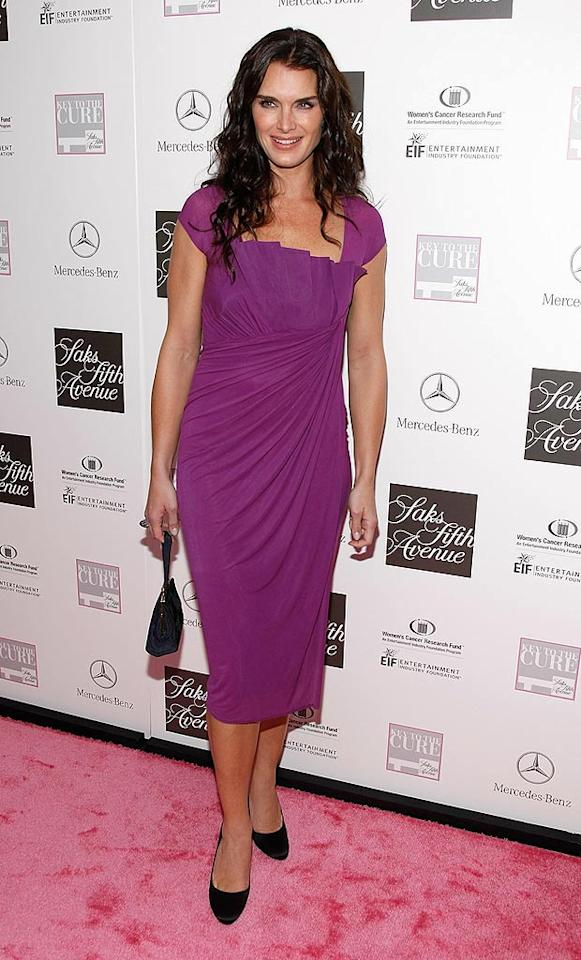 "Brooke Shields attends the Viva La Cure Benefit for the Women's Cancer Research Fund hosted by Saks Fifth Avenue at Rockefeller Center in New York. Jemal Countess/<a href=""http://www.wireimage.com"" target=""new"">WireImage.com</a> - October 17, 2007"