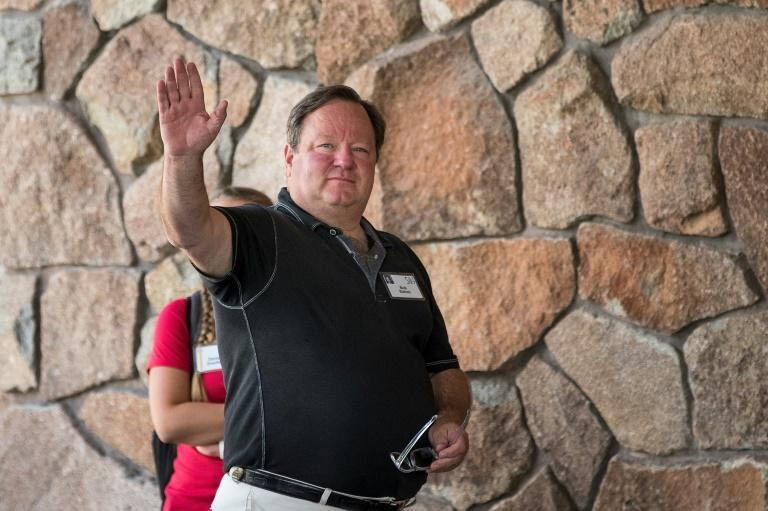 ViacomCBS chief executive Bob Bakish is seen at a 2017 business conference in Sun Valley, Idaho