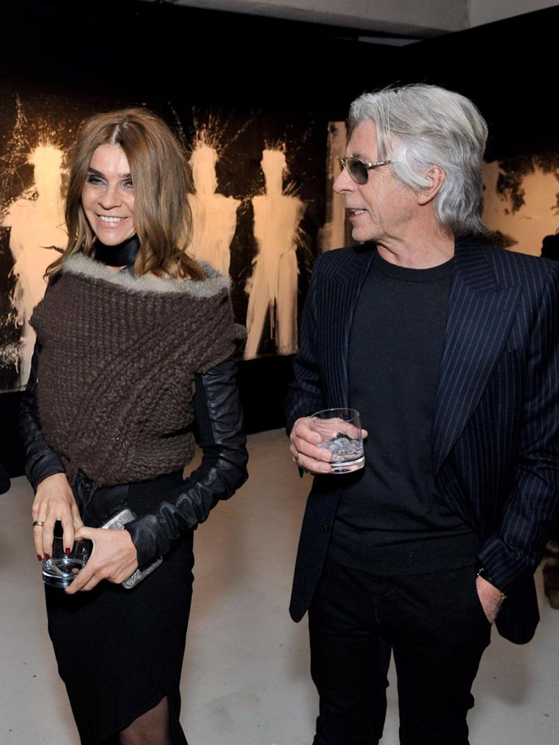 Former editor of Vogue Pairs, Carine, has been with her partner Christian since the 70s. Source: Getty
